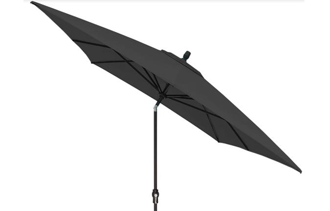 black 8 x 10 foot market style rectangular patio umbrella by treasure garden