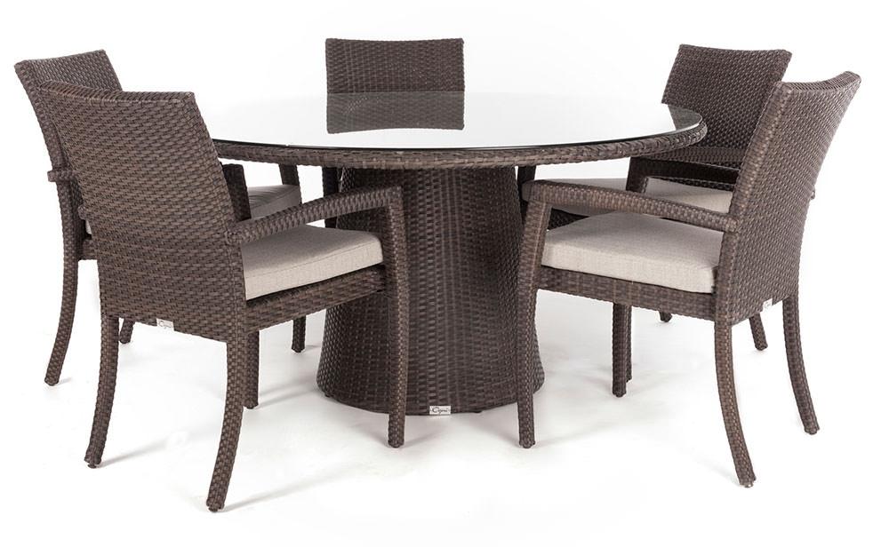 table a diner jardin ronde delia pour 4 a 8 personnes