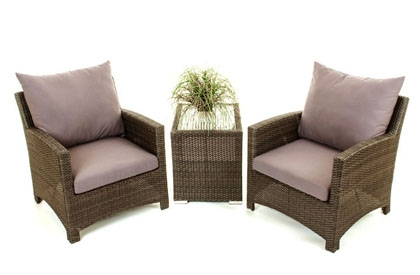 outdoor furniture end table with storage feature