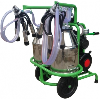 Aparat de muls vaci, T230X2 IN IC, 2 posturi, 2 bidoane de inox de 30 l, pahare de inox, Gardelina