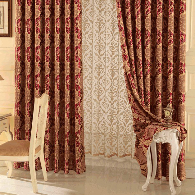 happy time jacquard and printed red living room or bedroom