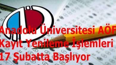 Photo of Anadolu Üniversitesi AÖF Kayıt Yenileme İşlemleri 17 Şubatta Başlıyor