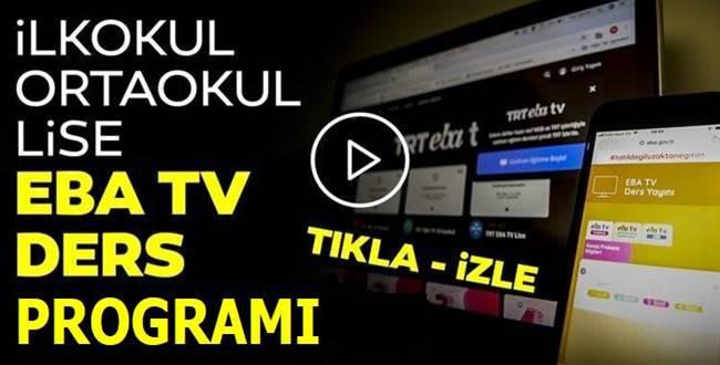 TRT EBA Tv Nisan Ders Programı