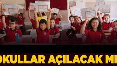 Photo of Okullar 24 Ağustos' ta Açılacak.