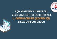 Photo of Açık Öğretim Kurumları 2020-2021 1. Dönem Online (Çevrim İçi) Sınavları 25 Şubat' ta Başlıyor