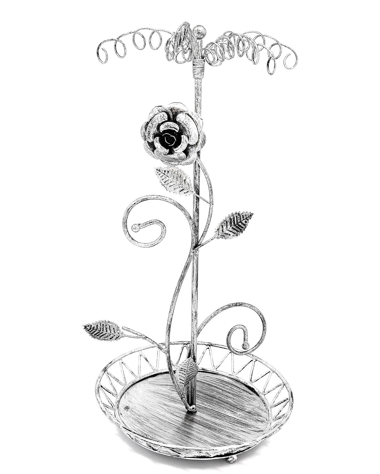 Prb16 Presentoir Bijoux Arbre Fleur Pour Colliers Bracelets Porte Cles Bagues Gris Patine Oh My Shop