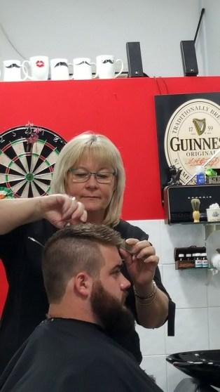 Ohair Barber Nundah - Haircut with customer