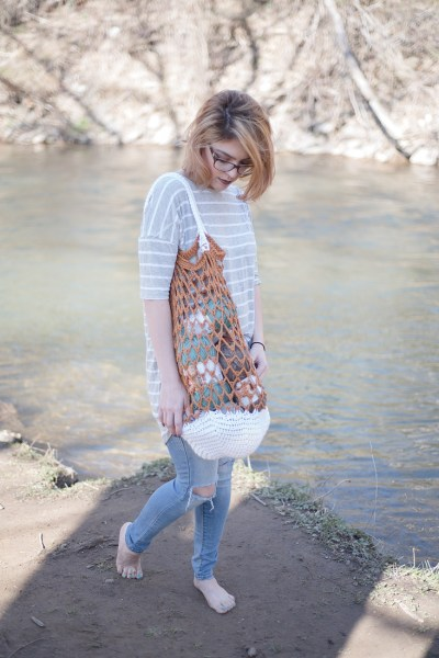 Free Crochet Pattern For The Farmers Market bag