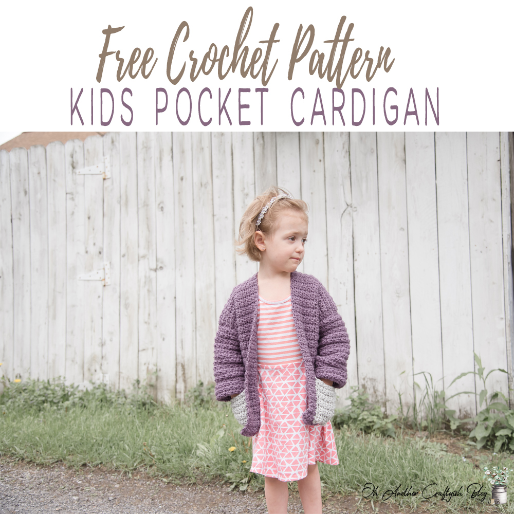 Free Crochet Pattern For The kids pocket Cardigan