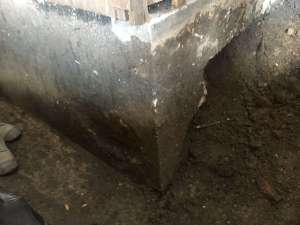 Foundation underpinning billed but work not completed