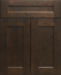 This is a picture of JK Black Coffee Maple cabinet door, base cabinet door, base drawer door, OH Kitchen Cabinet 4U, OH Cabinet 4U 35742 Vine Street