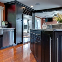 A beautiful kitchen with the K8 Espresso Maple cabinets.