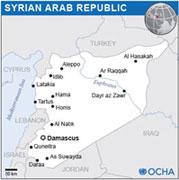 Map of Syrian Arab Republic © OCHA
