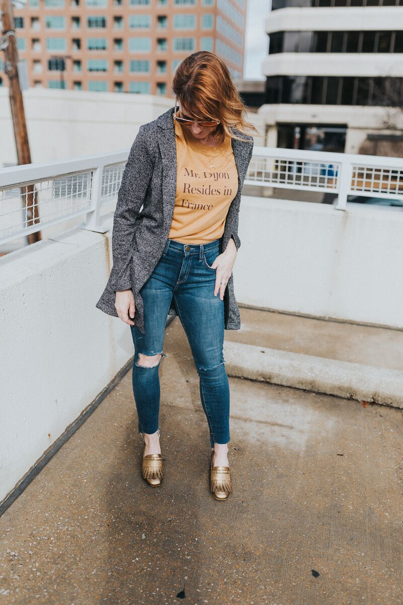 styling tips plus outfits with heeled loafers