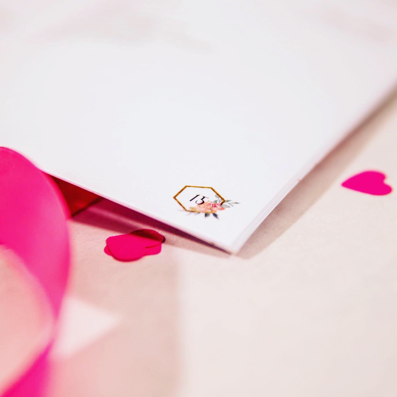 Trouwkaarten oh deer design ontwerp op maat ceremonieboekje misboekje huwelijksdrukwerk modern