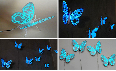 Electroluminescent Butterfly Nightlight (Images courtesy Inhabitat)