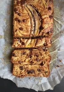 Peanut butter-Chocolate Chip Banana bread