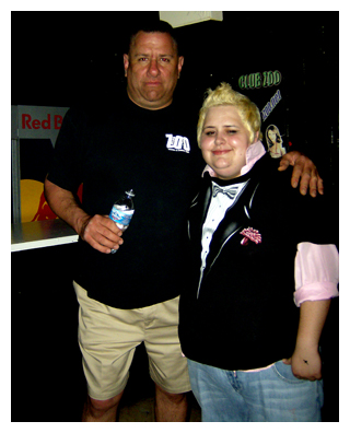 Christina and her security friend. Maybe he missed the signs that she's gay?