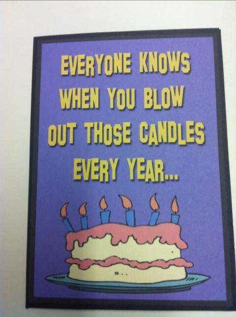 Barbs Birthday Card Oh Honestly Erin