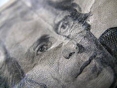 Close Up Of Twenty Dollar Bill