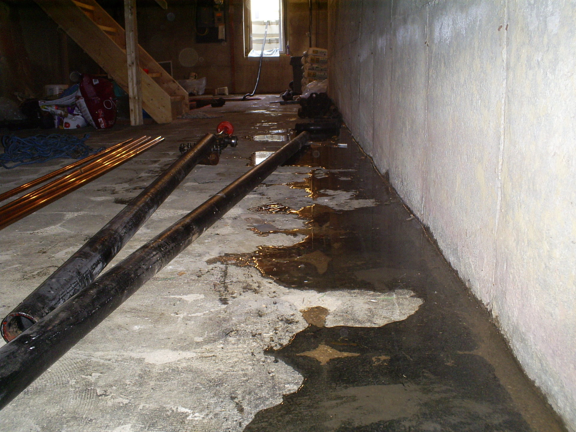 water seeping into basement