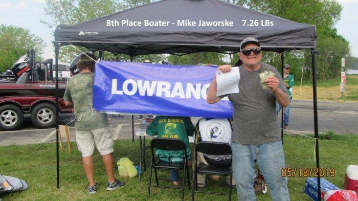 8th Place Boater - Mike Jaworske  7.26 LBs