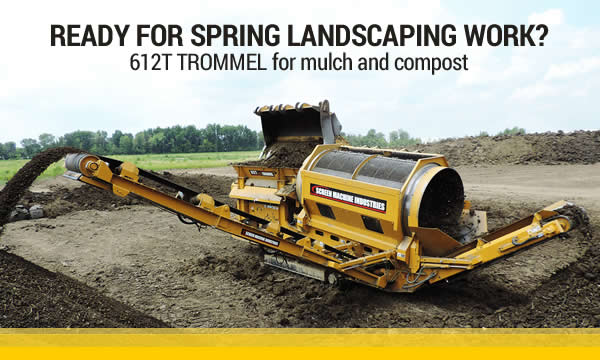 Trommel Plant for mulch and compost aggregates 612T Screen Machine