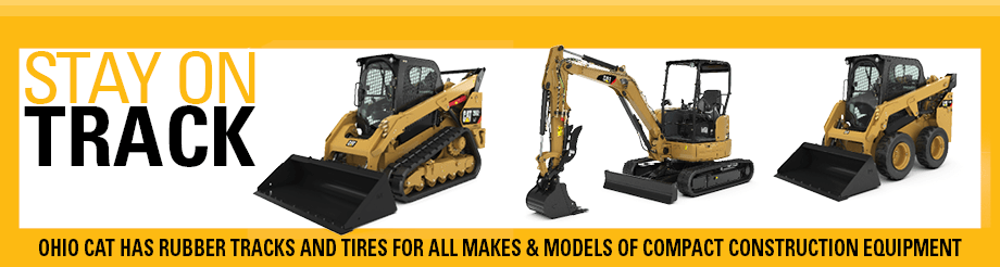 Cat® Rubber Tracks and Tires for Compact Construction