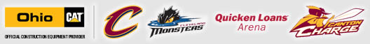 Ohio Cat - Official Construction Equipment Provider to the Cleveland Cavaliers | Monsters | Canton Charge | Quicken Loans
