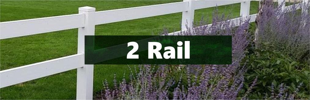 Vinyl 2-rail horse Fence