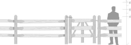 3 Hole Spilt Rail