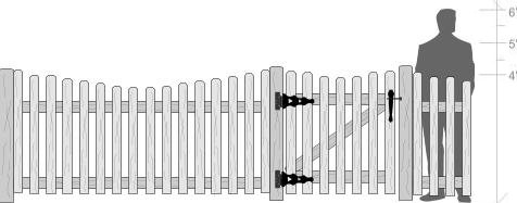 Steped Picket Fence