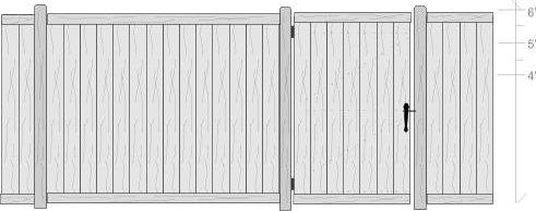Privacy fence custom