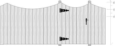 6' Solid Board Fence