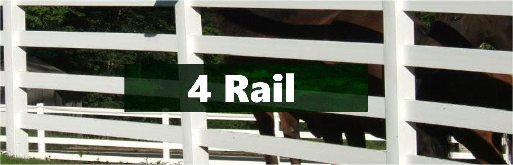 Vinyl 4-rail Horse Fence
