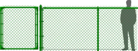 5' Green Chain Link Fence
