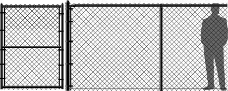 6' Black Chain Link Fence
