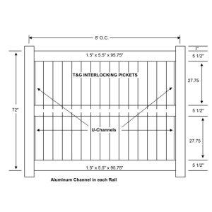 Vinyl Privacy Fencing – 3 Rail