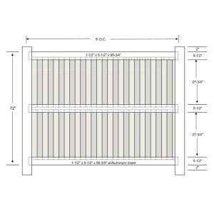 Vinyl Shadowbox Fencing 3 Rail