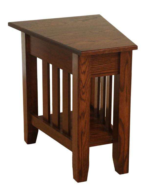 mission wedge end table ohio hardwood