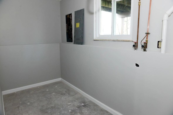 New drywall, paint and molding