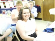 Volunteer, Brittany McConaughy, of Woodsfield, OH at the Delta Queen dinner June 2013.
