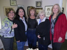 Museum Volunteer, Marcia Dierkes Cochran, Columbus, OH visited with RHS Class of 1975 friends during Spring Ladies' Day event, March 28th, 2015.