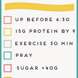 The Happy Healthy Checklist