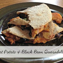 Day 8:: Sweet Potato & Black Bean Quesadilla