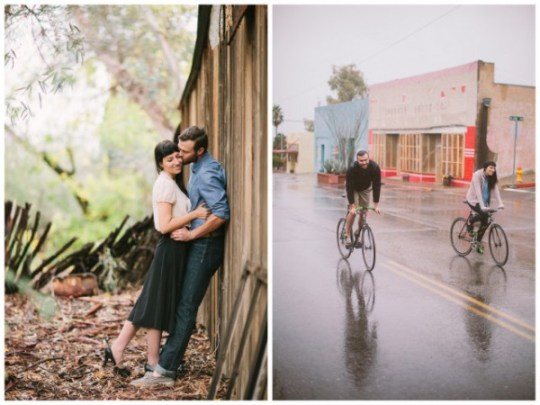 romantic rainy engagement session | brushfire photography