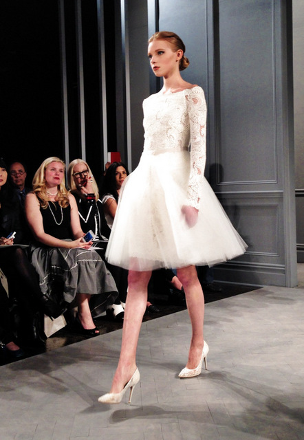 Charmant Wedding Dresses By Monique Lhullier Spring 2014 Collection Short Party Dress  ...
