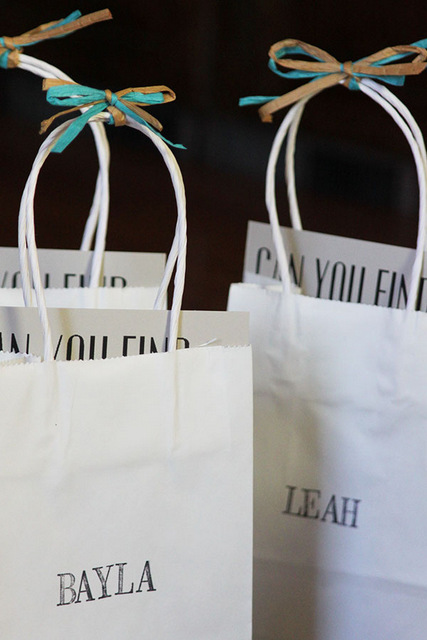 DIY goodie bags for kids at weddings