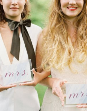 mrs and mrs signs | celebrating same sex marriage | photo by erin mcvey