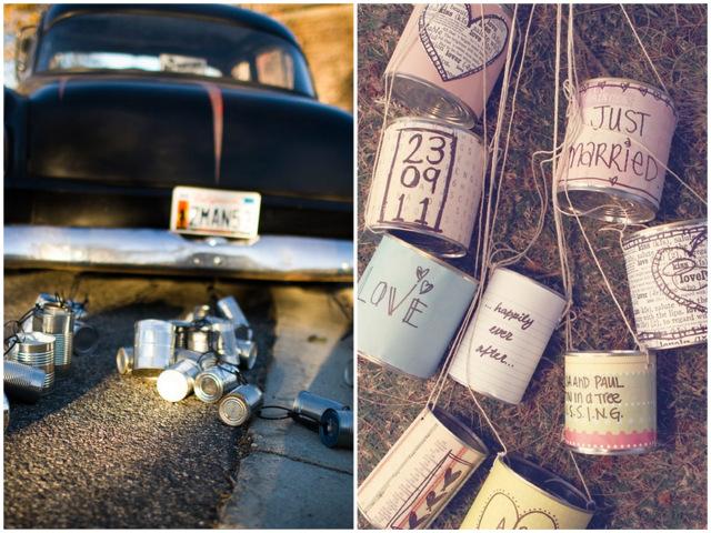 tin can wedding DIY ideas | Oh Lovely Day